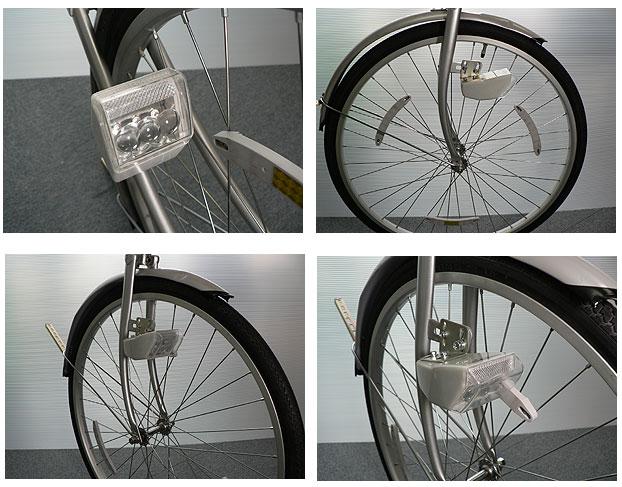 自転車の 発電 自転車 ライト : マジ軽ライト(AKW-1000) 自転車用 ...