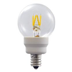 ウシオ LEDフィラメント電球 Let(レット) 調光対応 グローブ形 E12